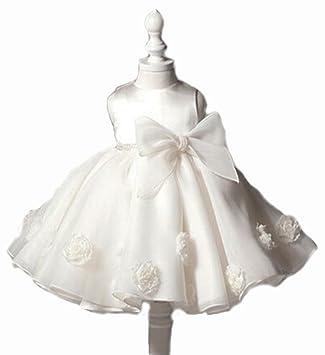 Amazon.com: Vestido de bautizo para 6 – 9 meses bebé niñas ...