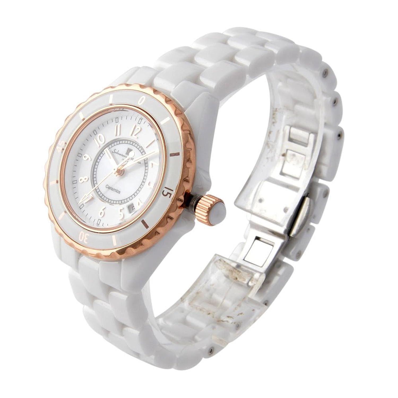 Amazon.com: Salvatore MarraQuartz Womens Watch SM15151-PGWHA White/ Rose: Watches