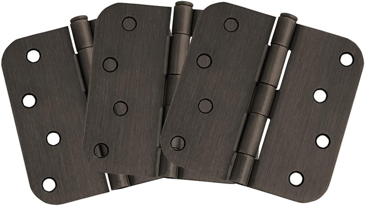"Dark Oil Rubbed Bronze Door Hinge 3.5X3.5/"" 1//4/"" Radius"