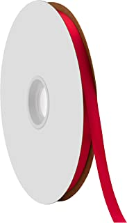 "product image for Offray Berwick 3/8"" Single Face Satin Ribbon, Scarlet Red, 100 Yds"
