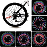 Diswoe Bike Rim Lights, Ultra Bright LED Bicycle Waterproof Wheel Light 32LED/32Patterns Bicycle Rim Light, String Colorful Bicycle Tire Accessories