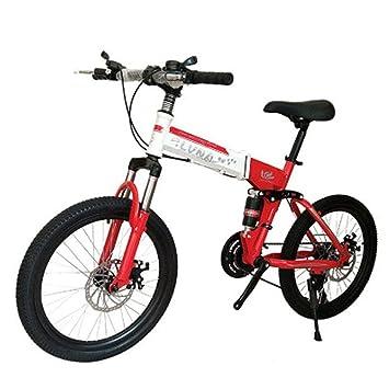 LETFF Bicicleta Plegable para Adultos De 20 Pulgadas, Amortiguación Doble De 24 Velocidades, Bicicleta