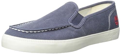 Timberland Newport Bay_newportbaycanvasmtslipon - Mocasines Hombre: Amazon.es: Zapatos y complementos