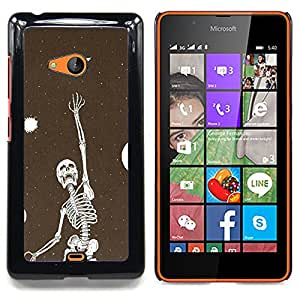 - Skeleton Vignette Dream Deep Meaning - - Snap-On Rugged Hard Cover Case Funny HouseFOR Microsoft Nokia Lumia 540 N540