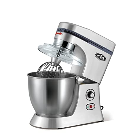 KitchenWare Station KWS M-B7 Commercial 620W Stand Mixer, 7 Quarts Silver Heavy-Duty for Restaurant/Bakery /Tea Shop/Coffee Shop Juicer Mixer Grinders at amazon