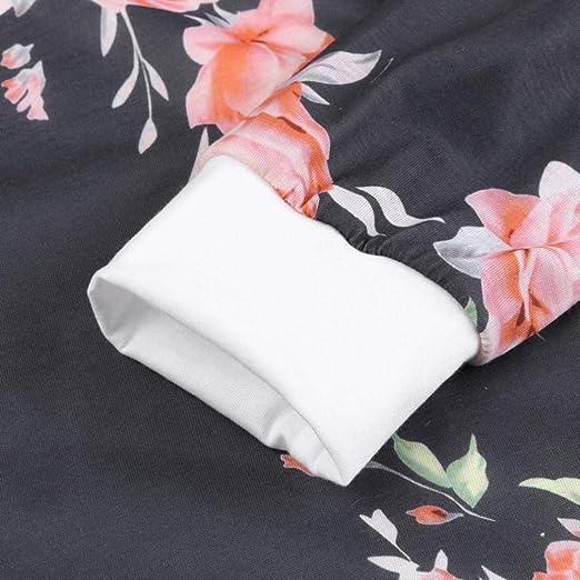 MEIbax 2018 Mujeres Mujer Manga Larga impresión Floral Camisa algodón Casual Personalizar Tops promocionales de Blusa: Amazon.es: Ropa y accesorios