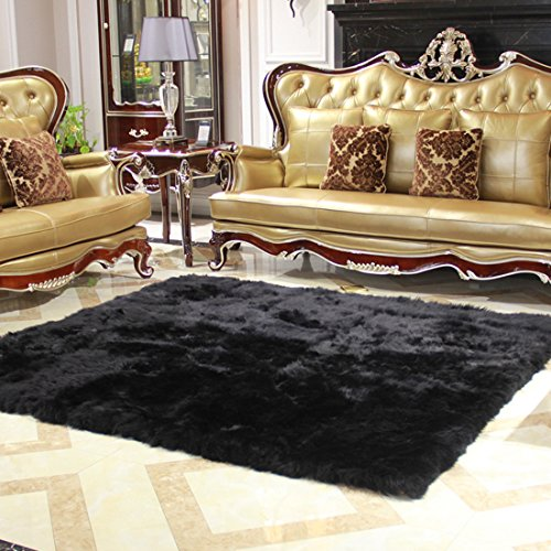 Cheap Rectangle Faux Fur Sheepskin Area Rug Baby Bedroom Fluff Floor Sofa Rugs Home Decorative Shaggy Carpet