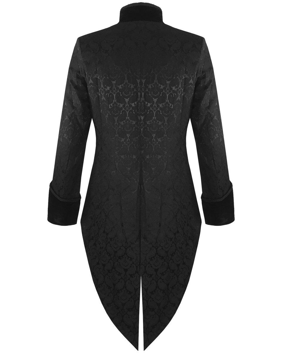 Mens Steampunk Tailcoat Jacket Velvet Gothic VTG Victorian/Tail Coat (Large, Brocade) 4