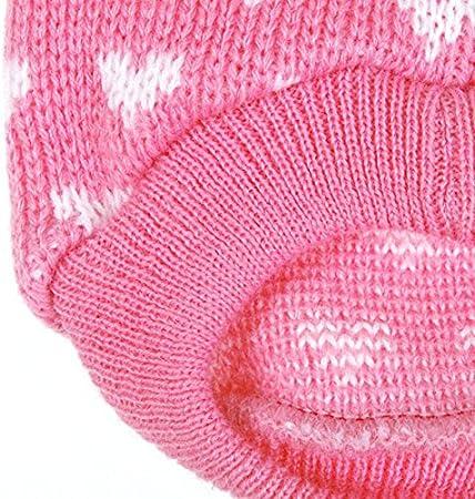 Wishwin Puppy Dog Little Heart Pattern Knit Sweater Coat Jumper Jacket XX-Small