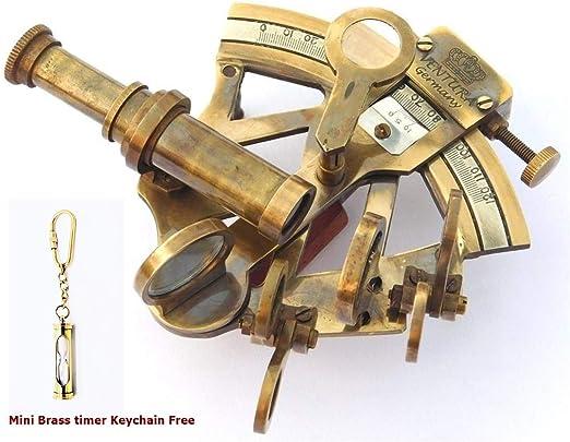 Nautical Ship Instrument Astrolabe Marine Brass Sextant