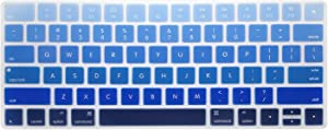 WYGCH Ombre Blue Keyboard Cover Skin for Apple Wireless Magic Keyboard Ultra Thin Silicone Protector, 2015 New US Version (MLA22LL/A)