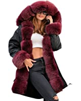 Roiii Women Ladies Winter Long Warm Thick Parka Faux Fur Jacket Hooded Coat S-XXL 3XL