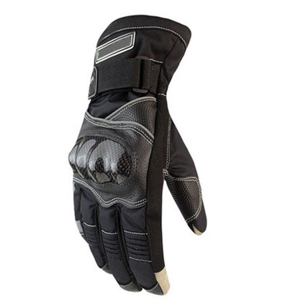 Noir XXL DOXUNGO Moto étanche Unisexe en Cuir Gants Anti-Chocs Messieurs écran Tactile pour Moto Cyclisme Randonnée de plein air Sport d'hiver