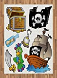 Pirate Area Rug by Lunarable,