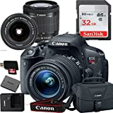 Canon EOS Rebel T5i Digital SLR Camera with EF-S 18-55mm IS STM Kit Accessory Bundle + 32GB SD Card + Canon Case