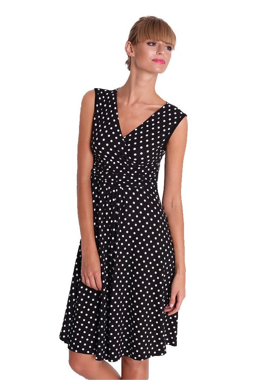 Kleid V-Ausschnitt Sommerkleid Mini Kleid Punkte XS S M L XL XXL 3XL 4 XL, 8479
