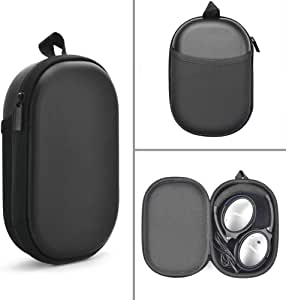 Esimen Headphone Case for Bose QC35 QuietComfort 35 (Series II) QC25 QC15 Wireless Bluetooth Noise Canceling Headphone Protective Carry Travel Waterproof Bag (Black)