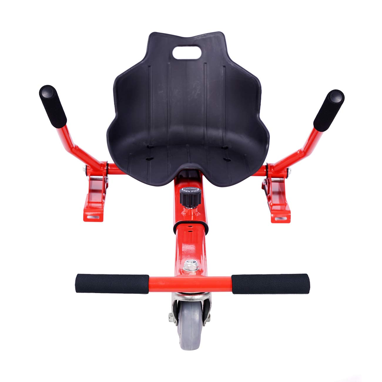 ULIKEIT Hoverboard Seat Attachment Go Kart Safty Scooter Accessories for Kids Fits 6.5''/8''/10'' Hoverboards (Red)