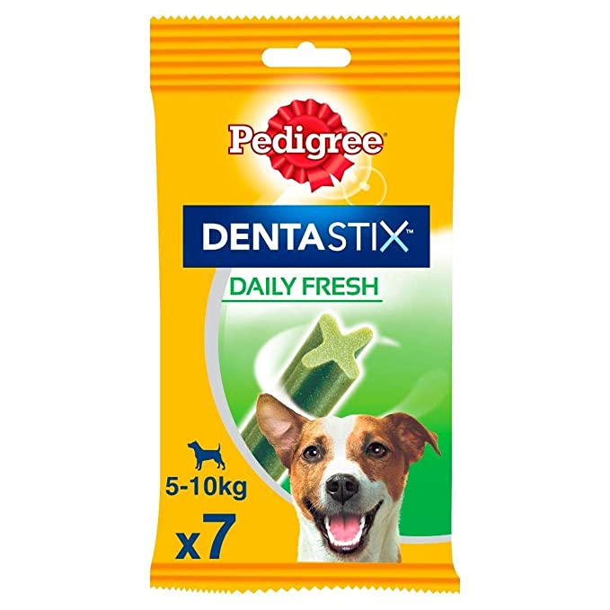 Pedigree Hundesnacks Hundeleckerli Dentastix Fresh für frischen Atem Mini Tägliche Zahnpflege für kleine Hunde <10kg, 70 Stic