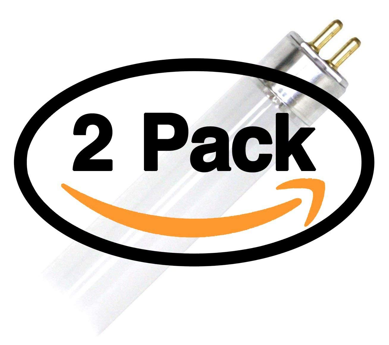 (2 Pack) GE 46673 - F14W/T5/841/ECO 14 Watt T5 Fluorescent Tube Light Bulb