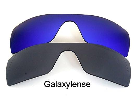 14c20c92a16a2 Galaxy Lentes De Repuesto Para Oakley Batwolf Negro y azul color polarizados,  2 pares - NEGRO Y AZUL, regular  Amazon.es  Ropa y accesorios