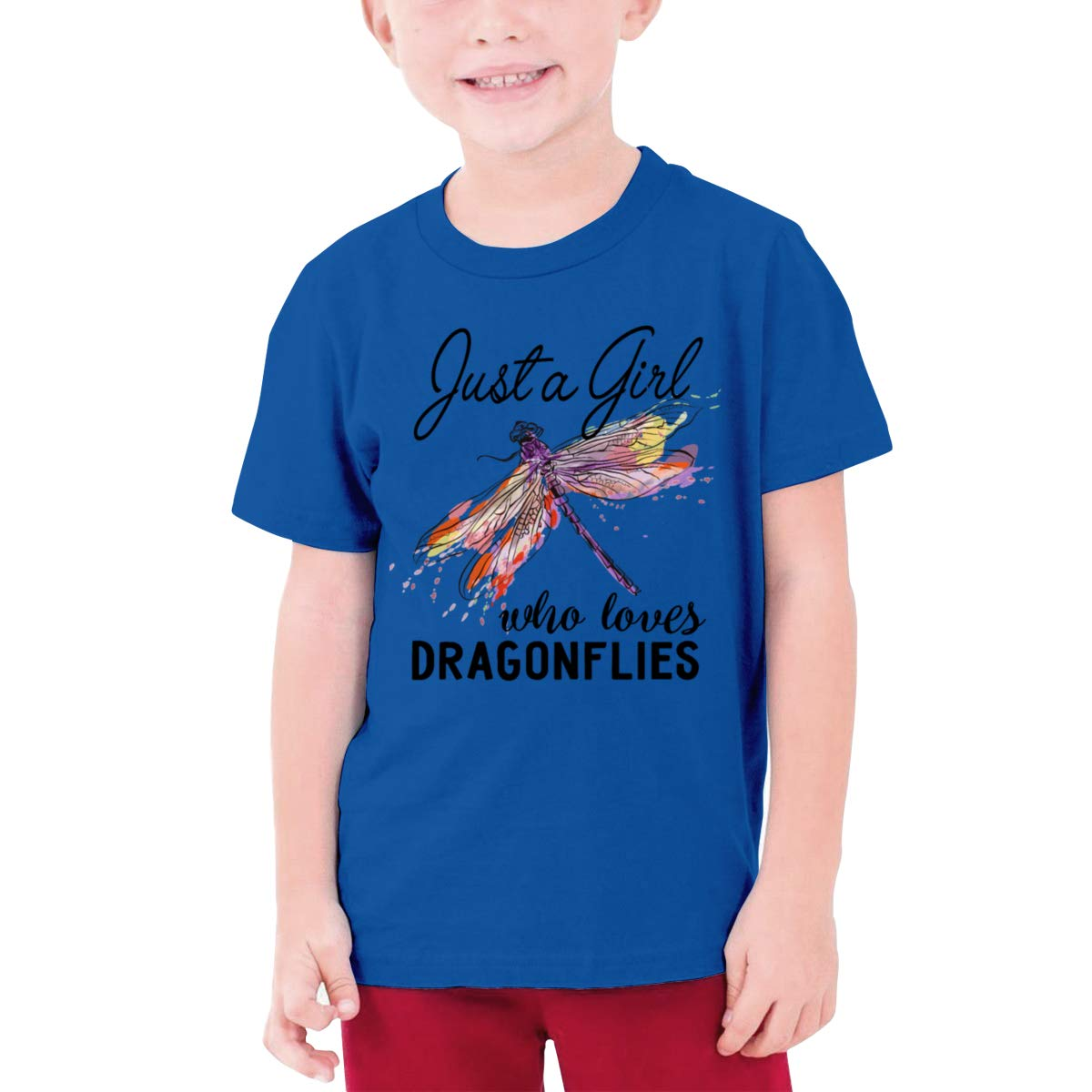 Just A Girl Who Loves Dragonflies Boy Short-Sleeved Shirts