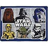 Star Wars Classic Area Rug with Darth Vader, Yoda, Chewbacca, C-3PO, R2-D2, and a Stormtrooper 39.5