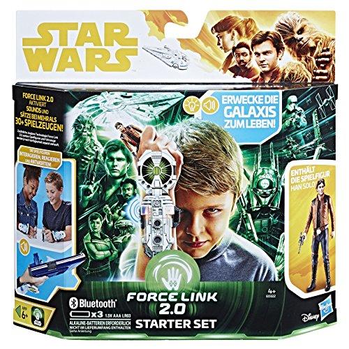 (Hasbro Star Wars Star Wars Universe Han Solo E0322100Film Force Link 2.0Starter Set for Boys)