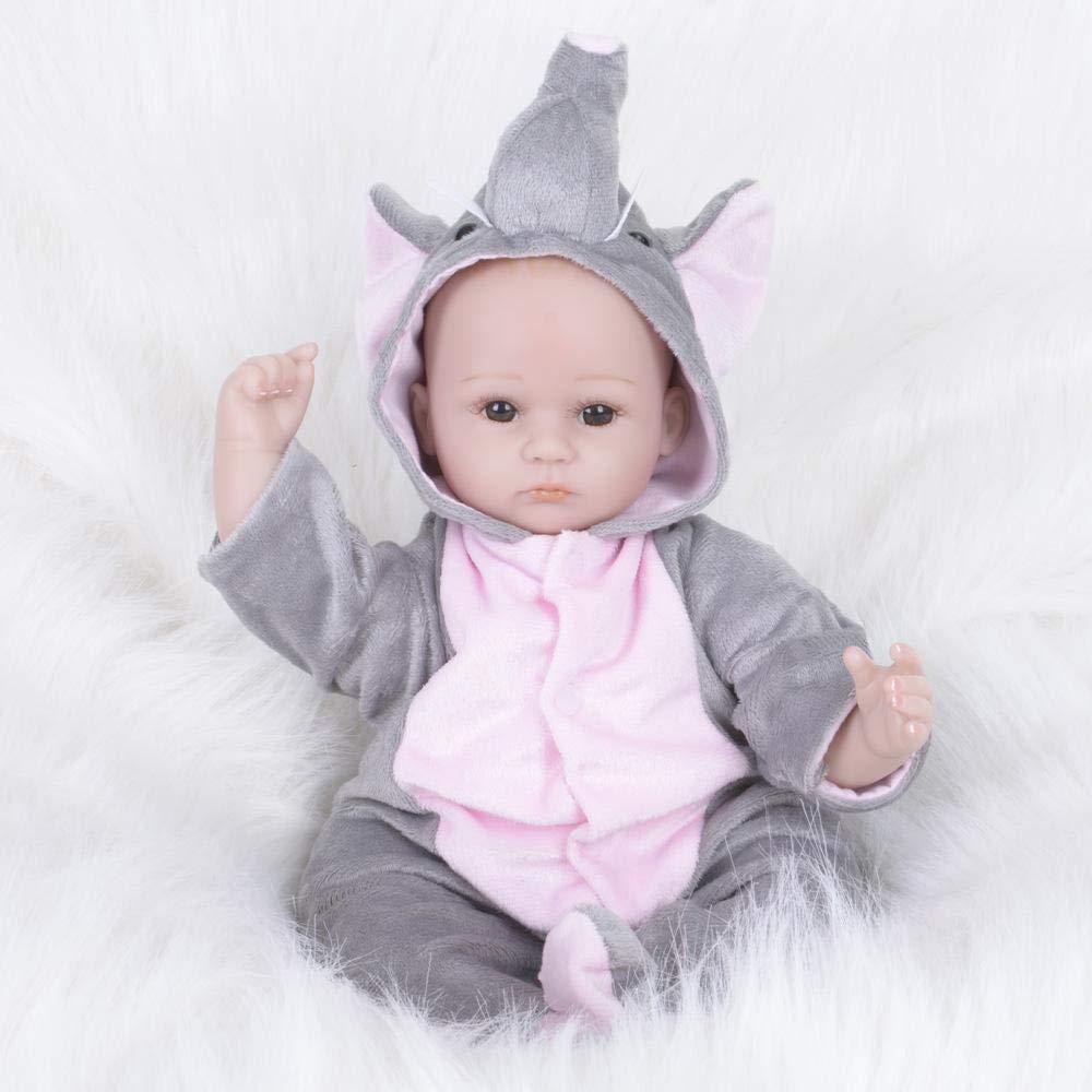 Hongge Reborn Baby Doll,Neugeborenes Baby Rebirth Puppen Realistische Prinzessin Kinderspielzeug Kindergeburtstag Geschenke 42cm