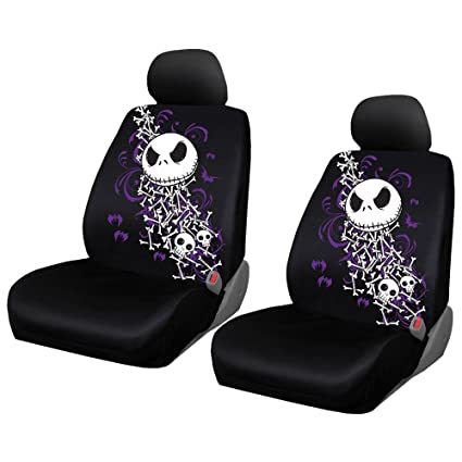Disney Nightmare Before Christmas Two Highback Seat Covers NBC Bones Universal