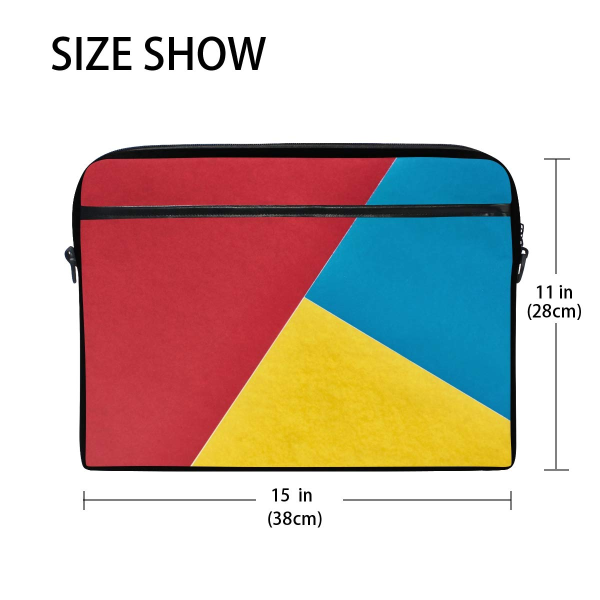 Suitable for 15 Inch Computers Shoulder Bags Red Yellow Bluemens and Womens Computer Bags Briefcases Handbags