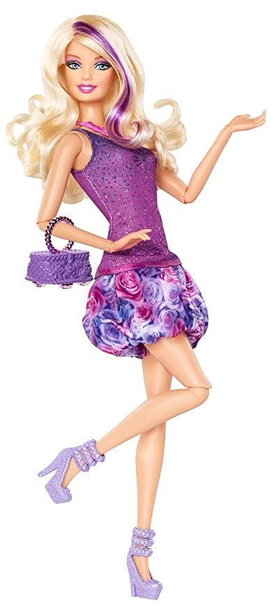 e175b095bd Image Unavailable. Image not available for. Color  Barbie Fashionista  Barbie Doll - Purple Dress