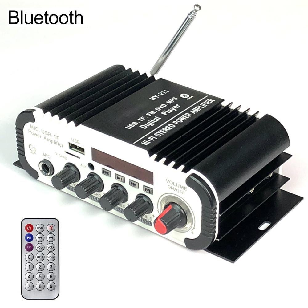 Teepao HYV11 FM/MP3/USB/SD/DVD Audio Speaker Car Bluetooth Digital Amplifier Hi-Fi Bass 2 Channel 20W