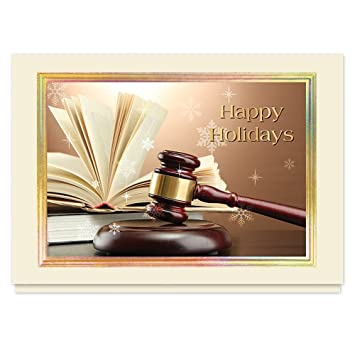 The Gallery Collection Christmas Cards.Gold Gavel Holidays 25 Premium Christmas Cards With Foil