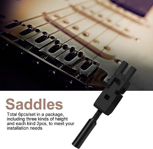 6pcs Gitarrenrollen Sattelbrücke Saiten für E-Gitarre-Silber