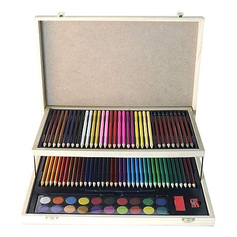Lápices de colores Sketch Set Estuche de madera con estudio ...
