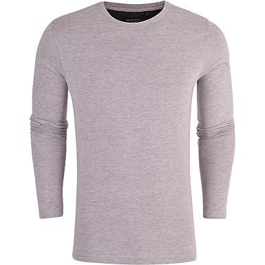 7e4fc141b214 Brave Soul Mens Long Sleeved T-Shirt Plain Cotton Crew Neck Tee Casual Top:  Amazon.co.uk: Clothing