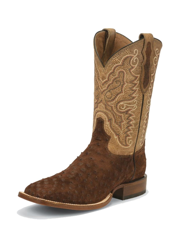 Tony Lama Men's Cigar Full Quill Ostrich Boots