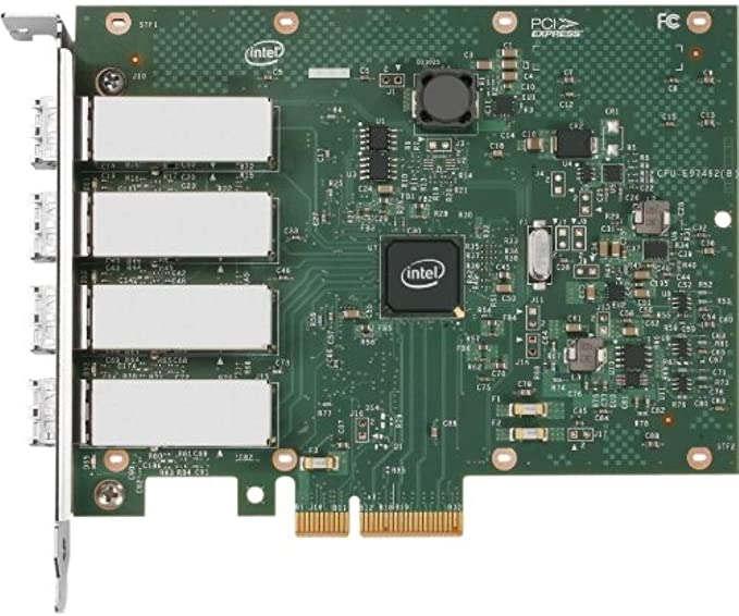 Full-height Low-profile 10//100//1000Base-T Renewed PCI Express x4-2 Port Internal Ethernet Server Adapter I350-T2 Re