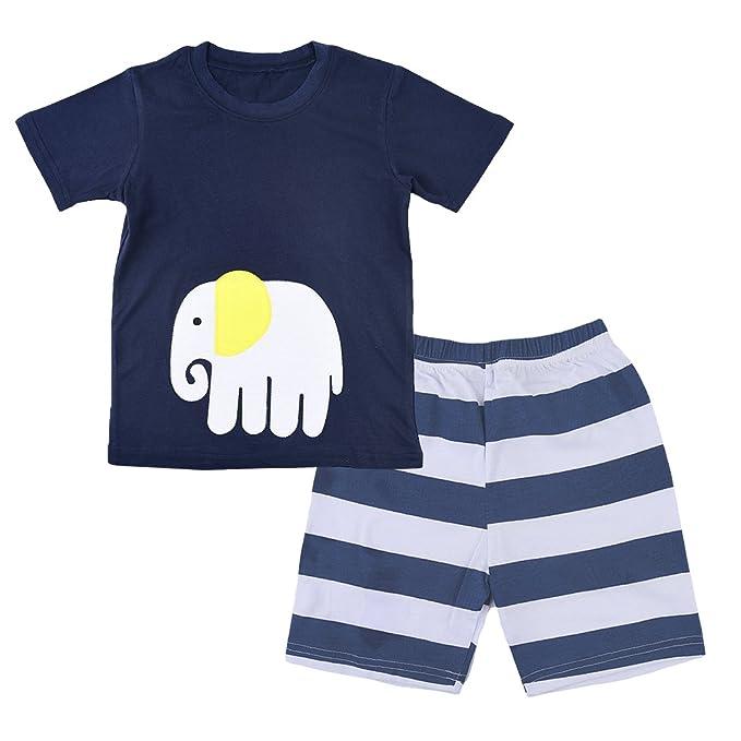 Tkria - Pijama dos piezas - para niño Azul azul 2-3 Años