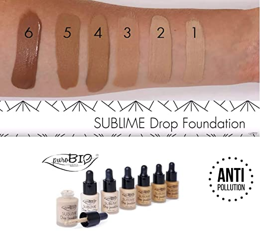 purobio sublime drop foundation  PuroBio Sublime Drop foundation Fondotinta fluido Anti-Pollution 15 ...