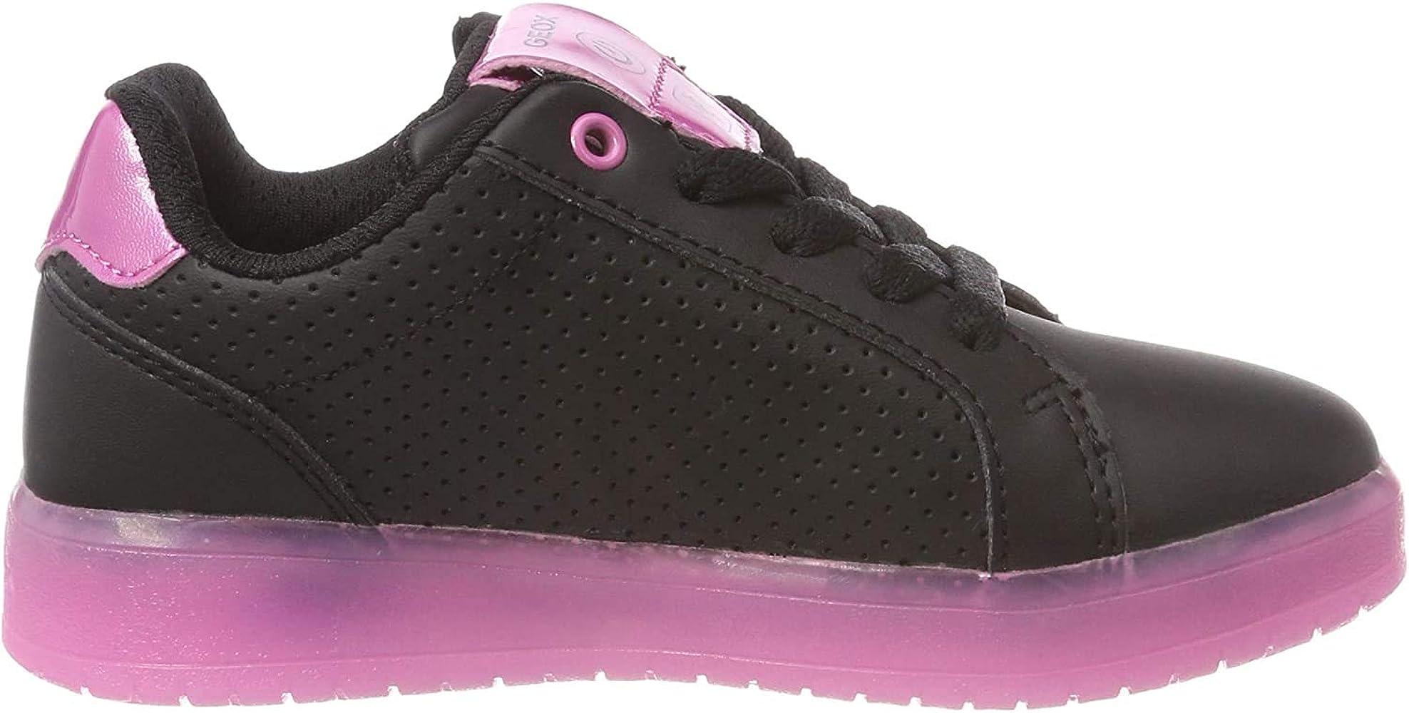 Geox J Kommodor Girl A, Zapatillas para Niñas, (Black/Fuchsia ...