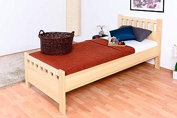 Cama individual/de AMI madera de pino maciza natural 68, incl ...
