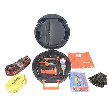 ZXZ-GO Caja de Herramientas del neumático del Coche 13Piece, Conjunto de Herramienta - Herramienta de la Reparación para el Coche de DIY Mantenimiento de la ...