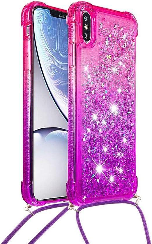 Miagon H/ülle Glitzer f/ür iPhone XS Max,Luxus Diamant Strass Schmetterling Blume PU Leder Handyh/ülle St/änder Funktion Schutzh/ülle Brieftasche Cover,Gold