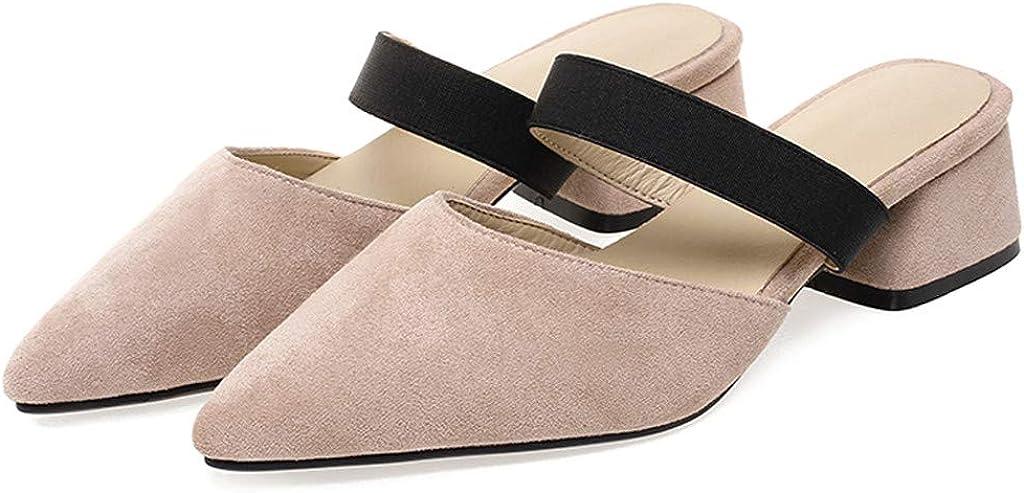 Corriee Womens Dressy Pointed Toe Slip On Low Heel Dress Shoes Snakeskin Loafers Slip on Mules Office Footwear