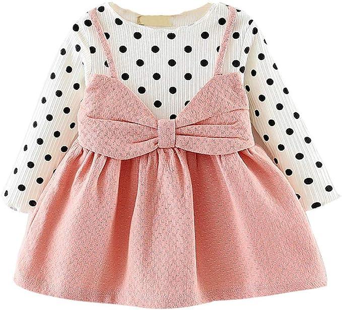 Amazon.com: Vestido de bebé para niña recién nacida, de 0 a ...