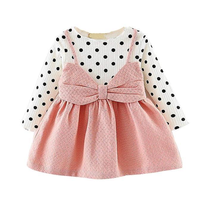 Amazon.com: Toraway- Vestido de bebé para niñas recién ...