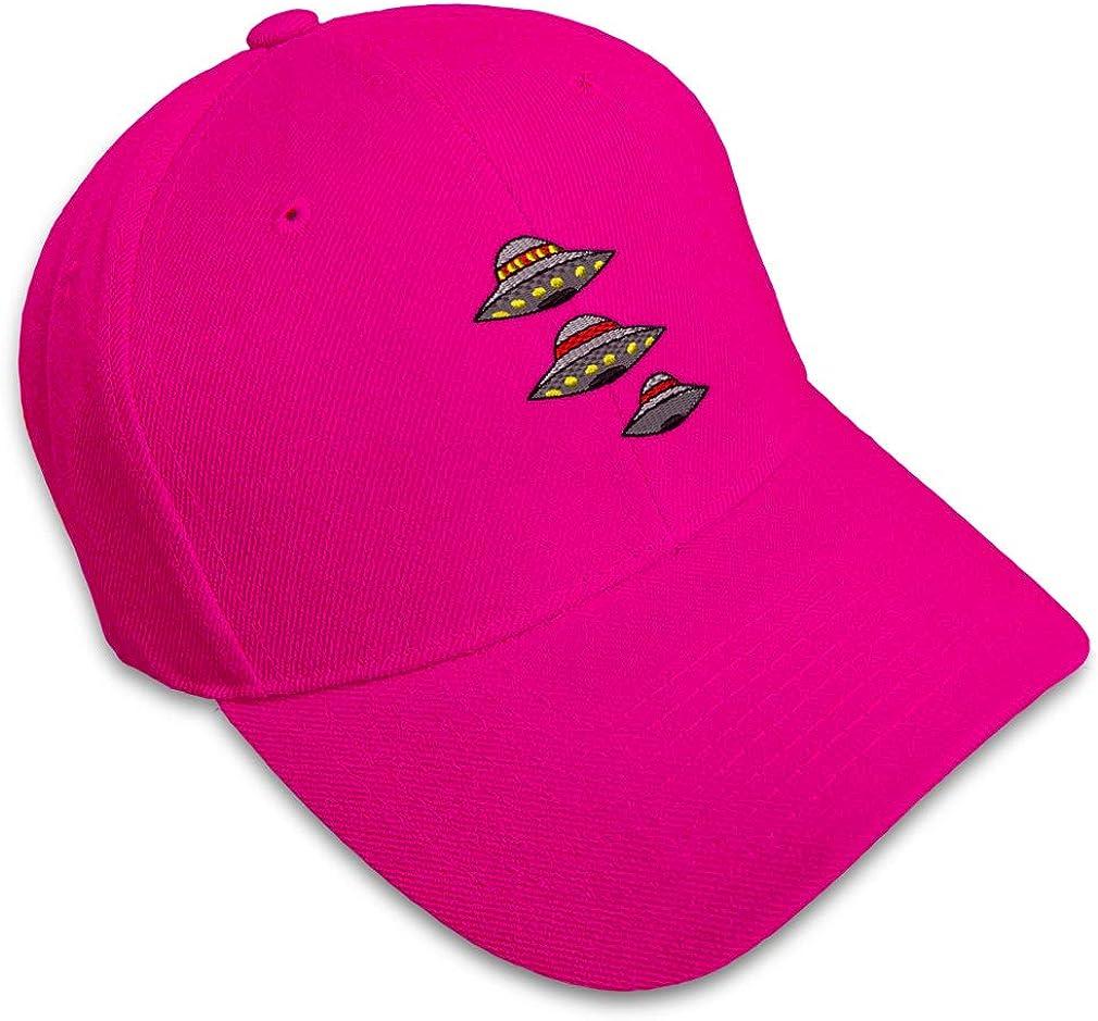 Custom Baseball Cap Spaceships Embroidery Dad Hats for Men /& Women Strap Closure