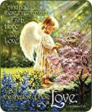 Queen Size Angels Tenderness Religious Scripture Hope Love Faith Bible Verse Faux Fur Blanket